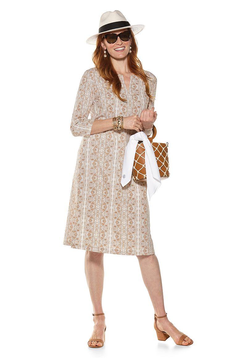 Classic Fedora & Fiji Long Tunic Dress Outfit