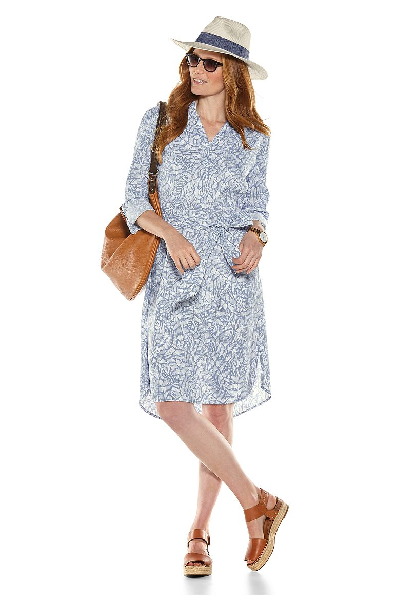 Classic Fedora & Oxford Shirt Dress Outfit