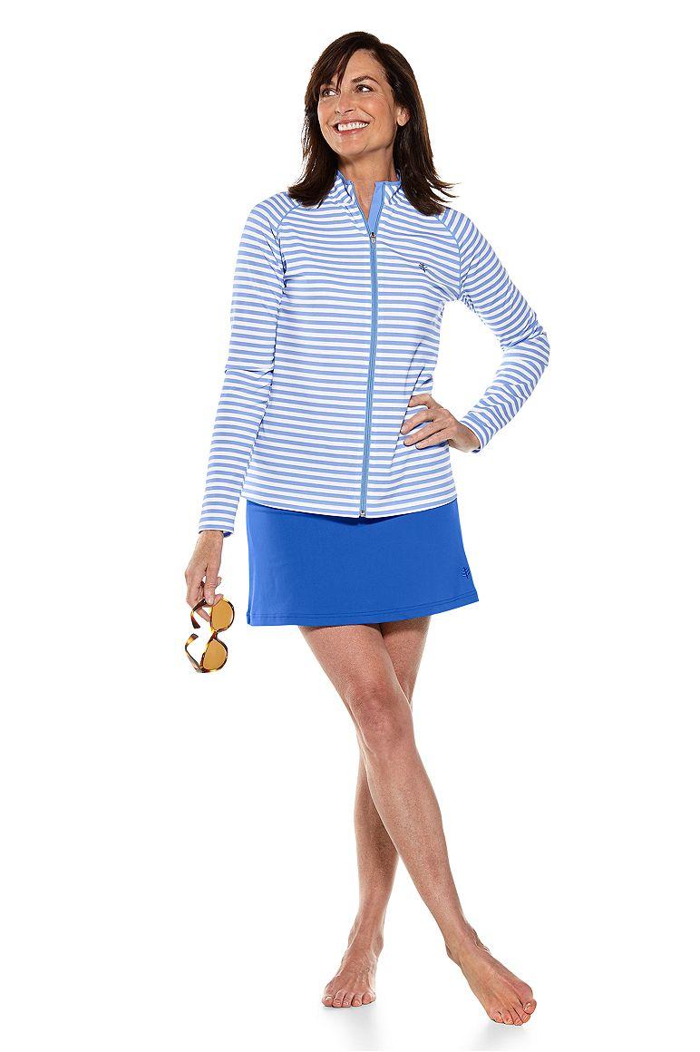 Long Sleeve Water Jacket & Sandbar Swim Skort Outfit