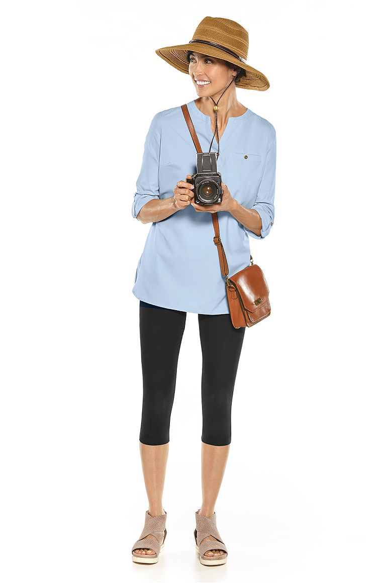 Travel Tunic Top & Summer Capris Outfit
