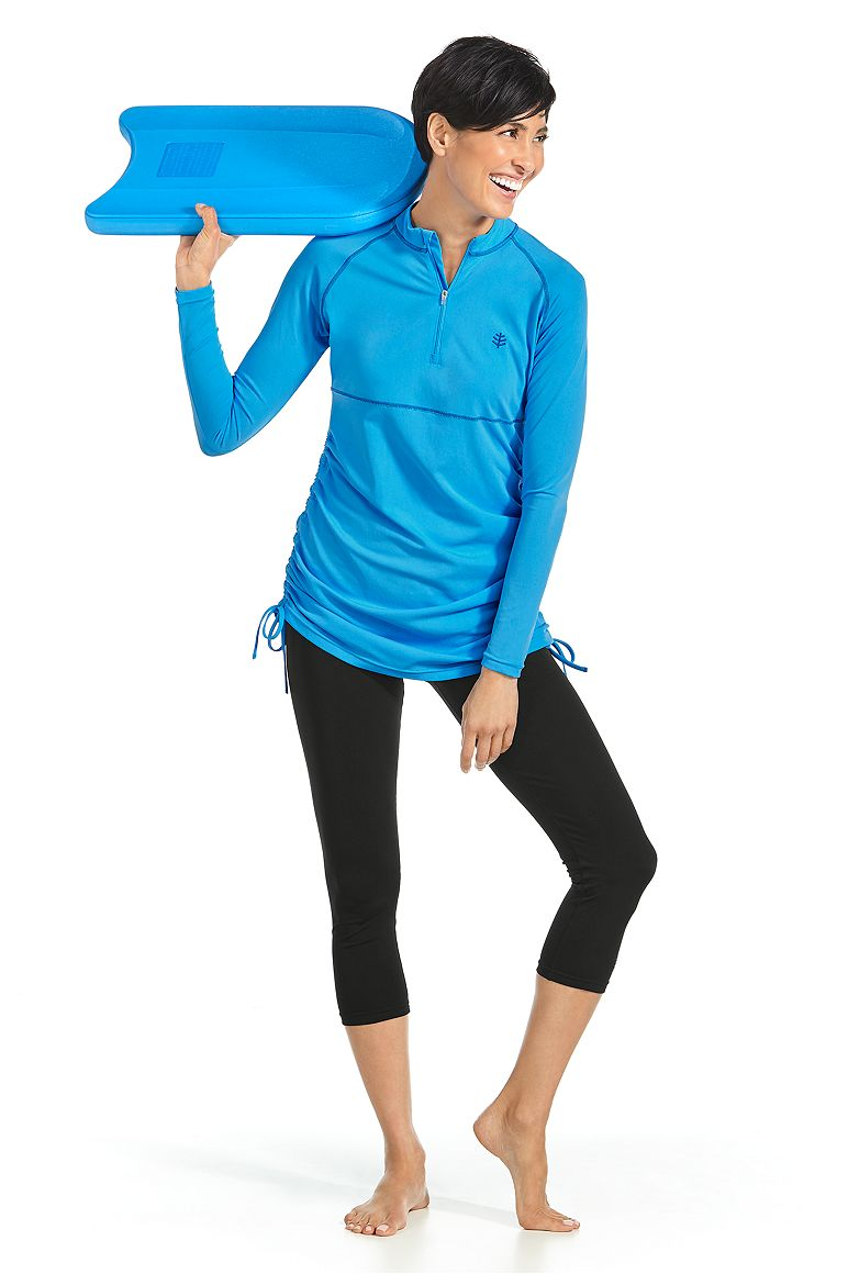 Ruche Swim Shirt & Swim Capris Outfit