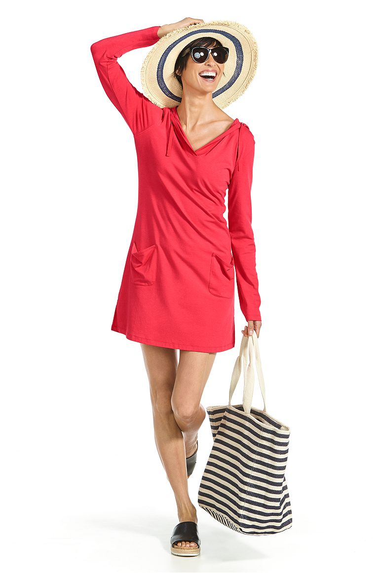 Floppy Sun Hat & Beach Cover-Up Dress Outfit