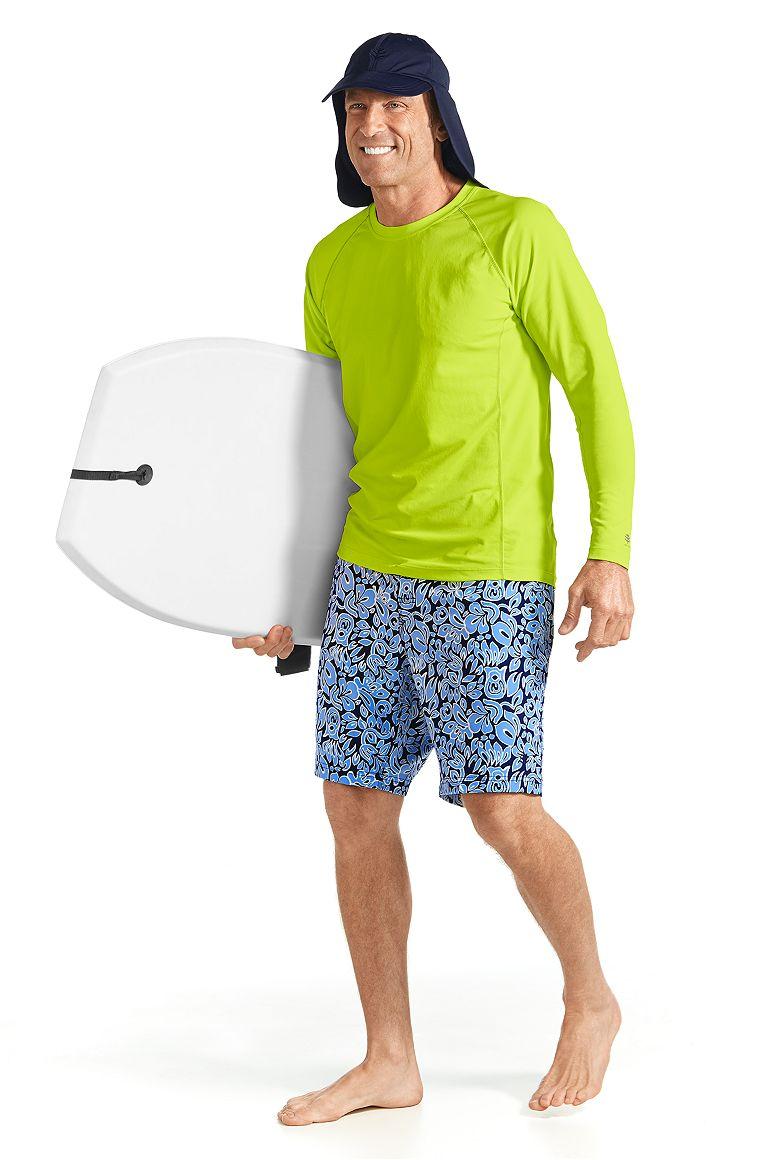 Long Sleeve Swim Shirt & Island Swim Trunks Outfit