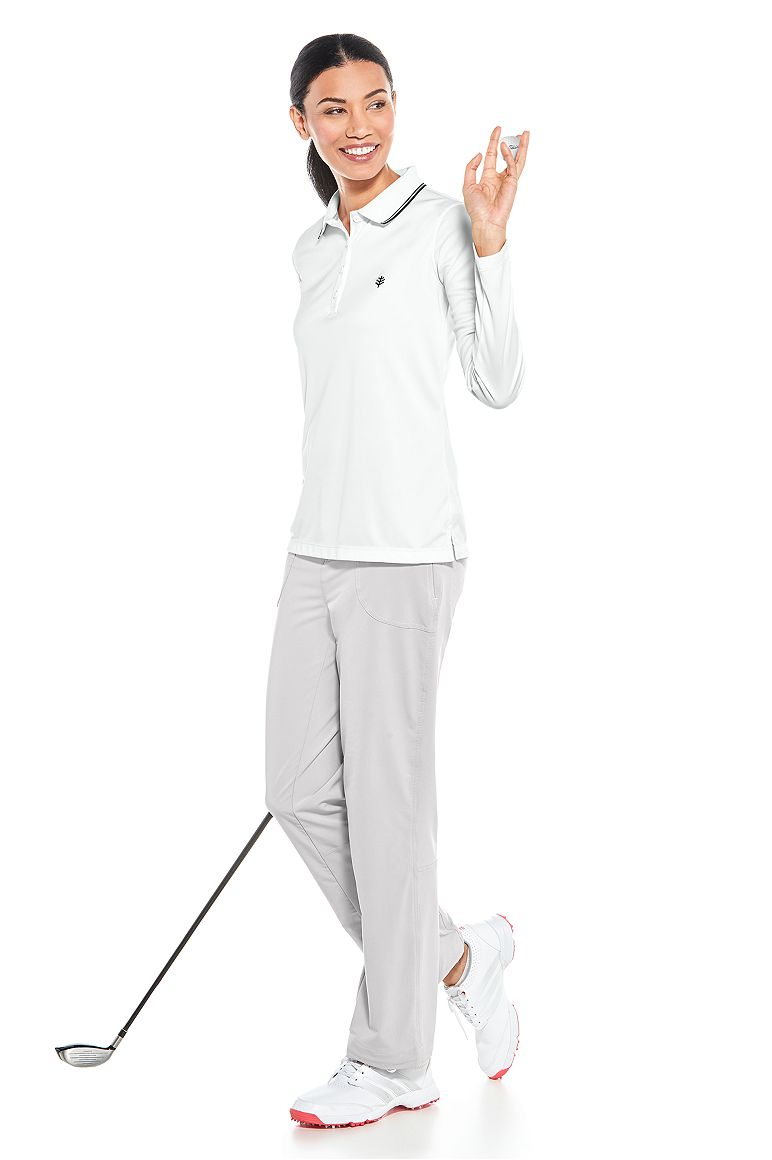 Long Sleeve Golf Polo & Adventure Pant Outfit