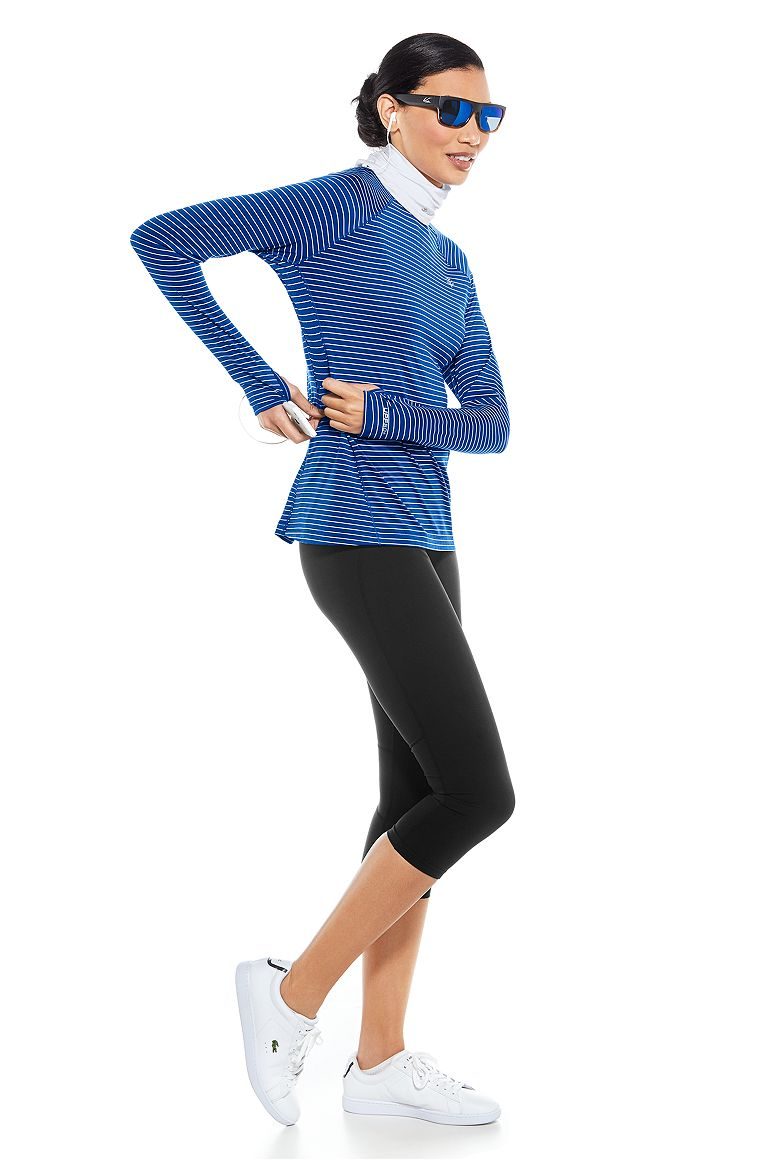 Long Sleeve Fitness Tee & Yoga Capris Outfit