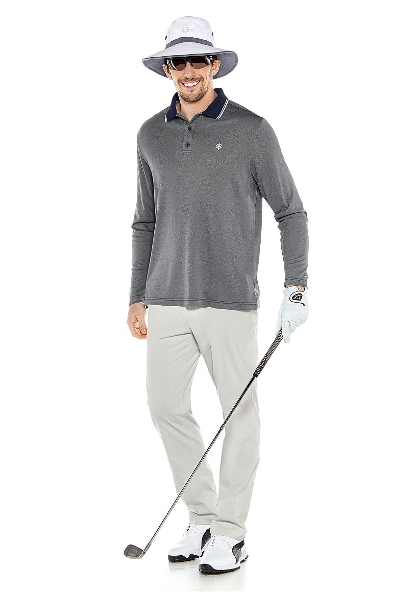 Matchplay Golf Hat & Long Sleeve Golf Polo Outfit