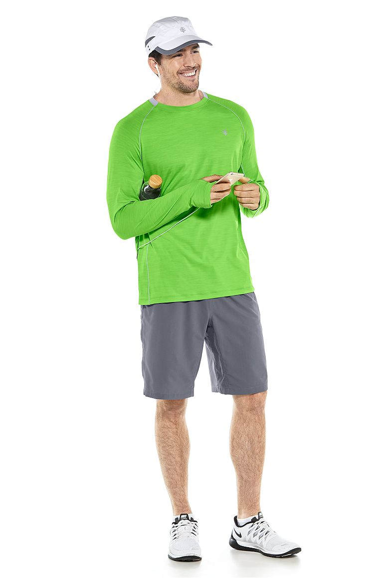 Long Sleeve Performance Tee & Sport Short Outfit