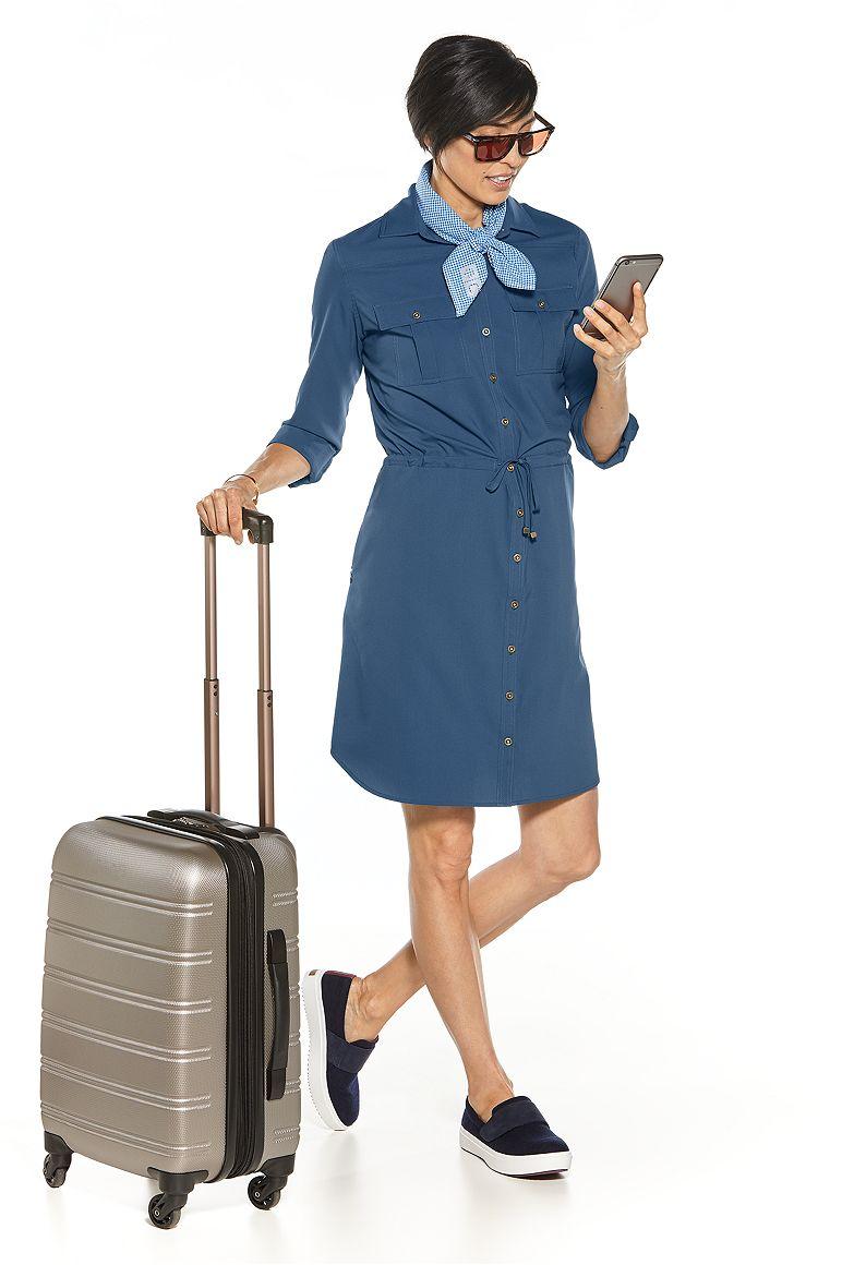 Sun Bandana & Travel Shirt Dress Outfit