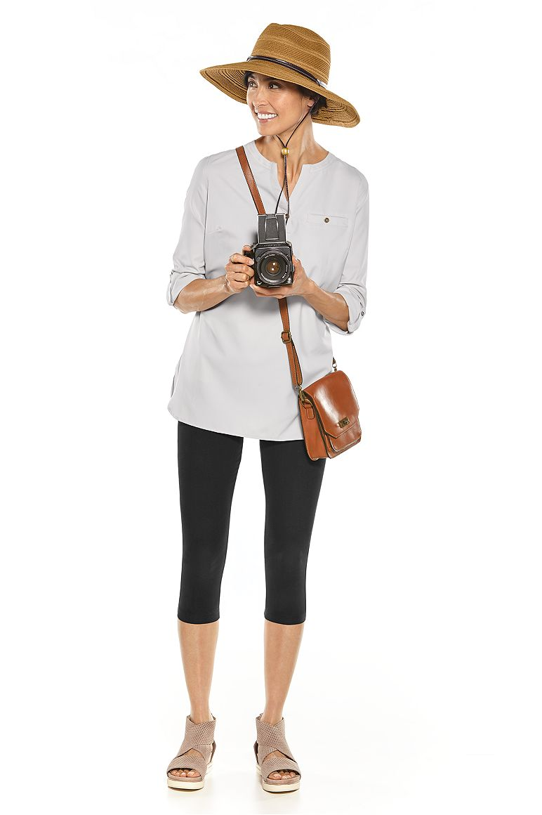 Tempe Sun Hat & Travel Tunic Top Outfit