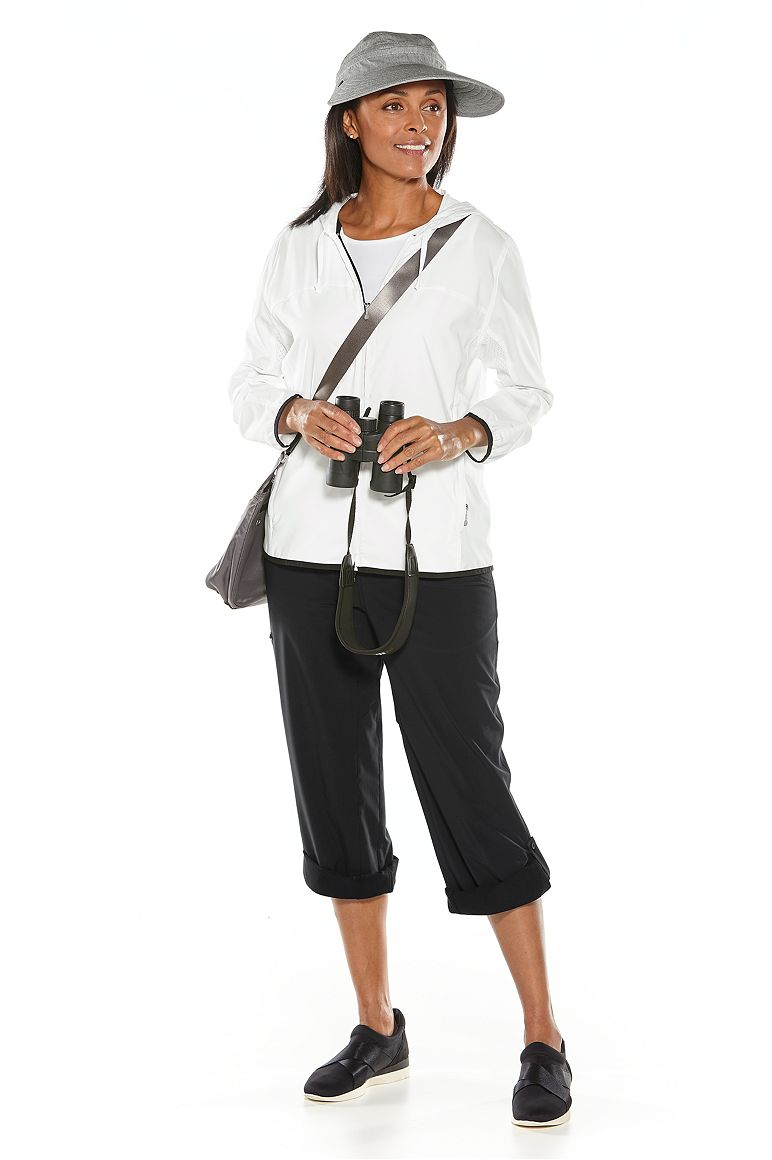 Zip-Off Sun Visor & Packable Sunblock Jacket Outfit