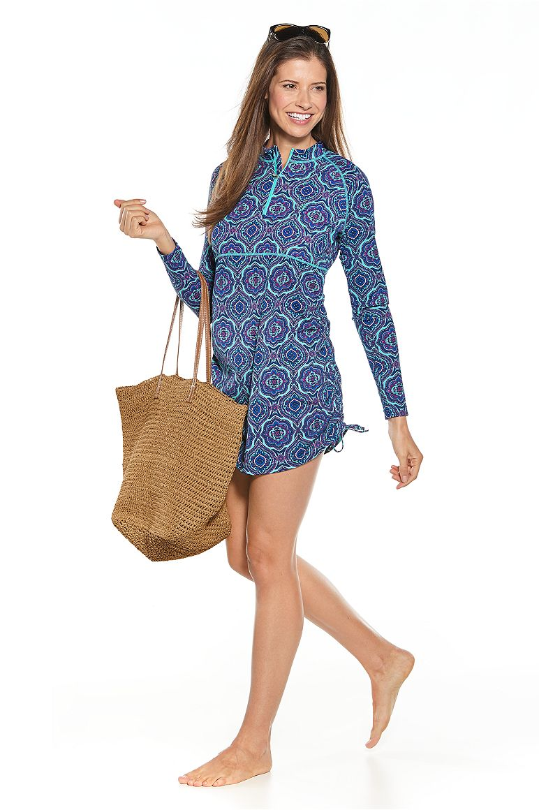 Ruche Swim Shirt Outfit