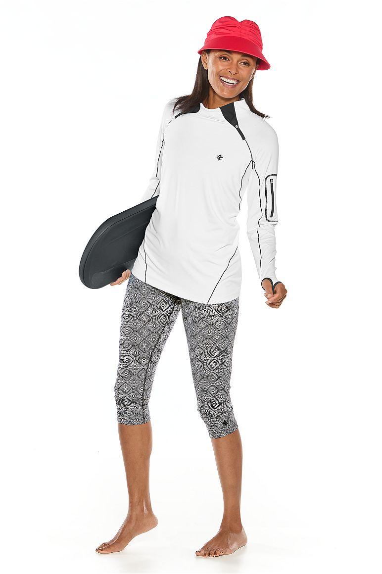 Quick-Zip Rash Guard & Swim Capris Outfit