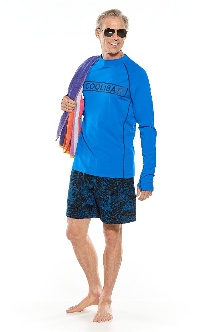 Logo Long Sleeve Rash Guard & Swimming Shorts Outfit