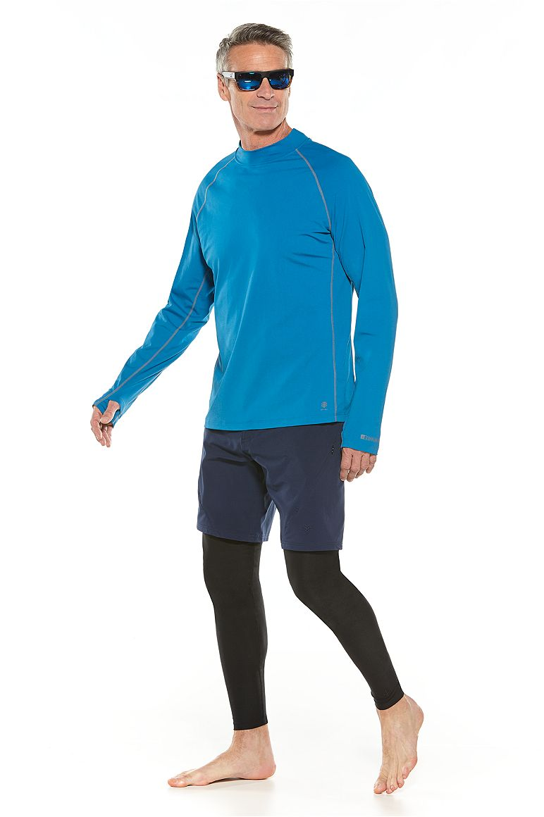 Surf Rash Guard & Tech Swim Trunks Outfit