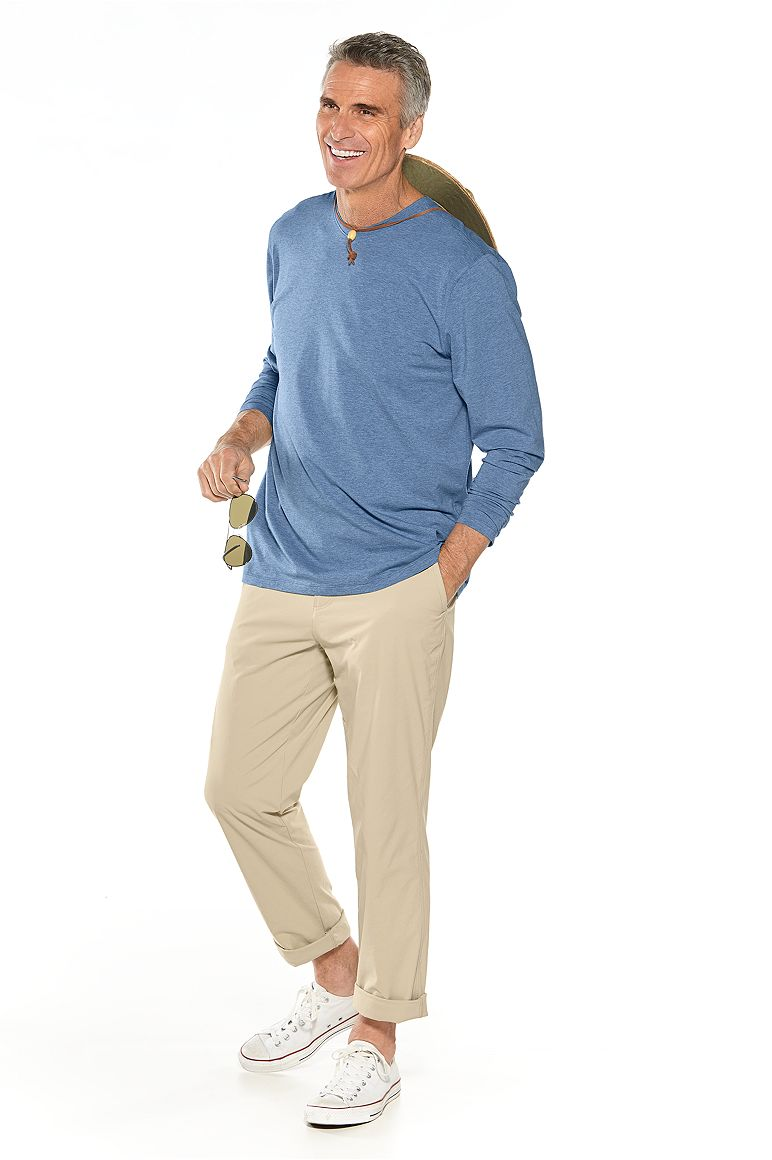 L/S V-Neck T-Shirt & Casual Pants Outfit