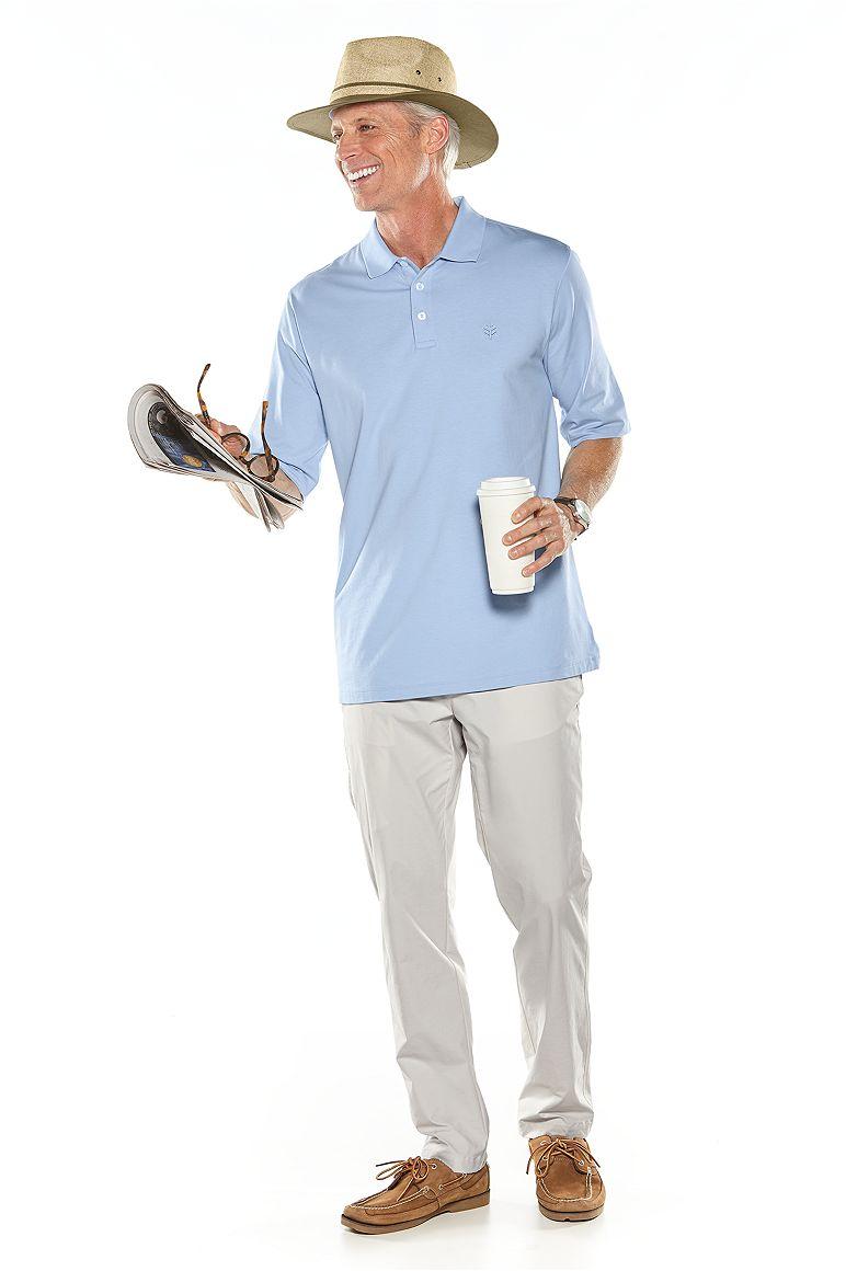 Fedora Sun Hat & Short Sleeve Polo Shirt