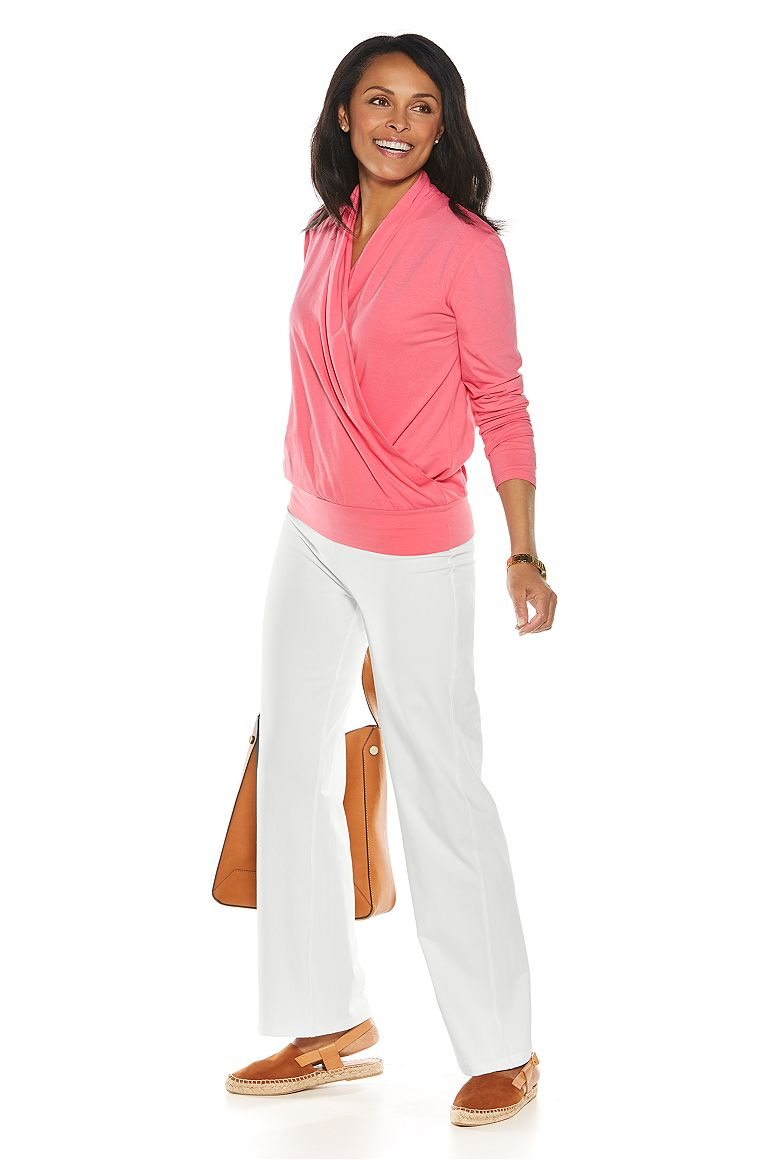 Wrap Top & Beach Pants Outfit
