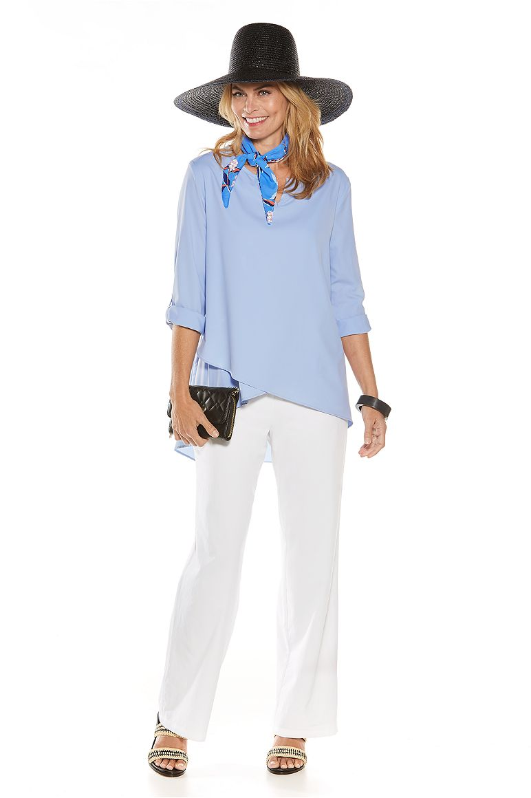 Garden Party Tunic Top & Straight Leg Pant Outfit