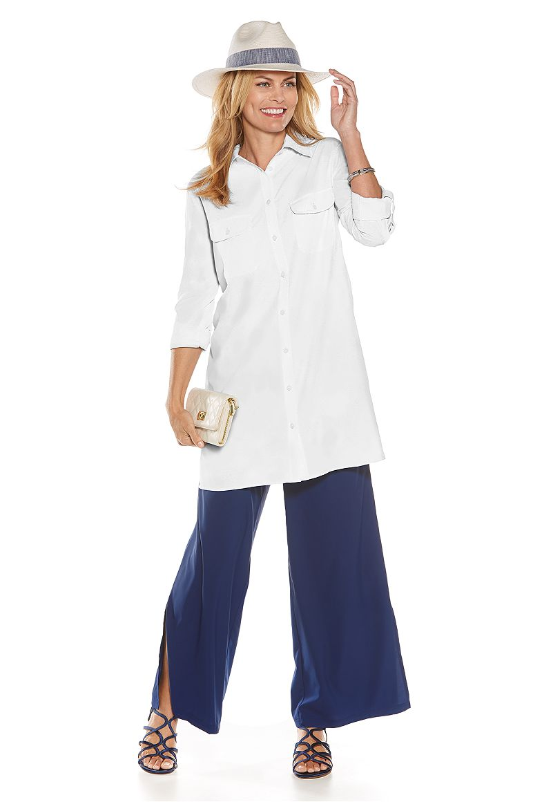 Tunic Shirt & Wide Leg Pant Outfit