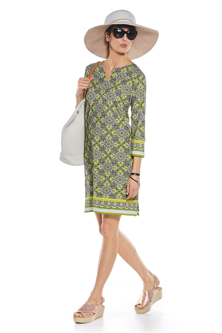Ribbon Hat & Oceanside Tunic Dress Outfit