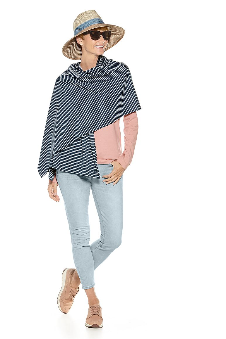 Everyday Beach Shawl & V-Neck T-Shirt Outfit