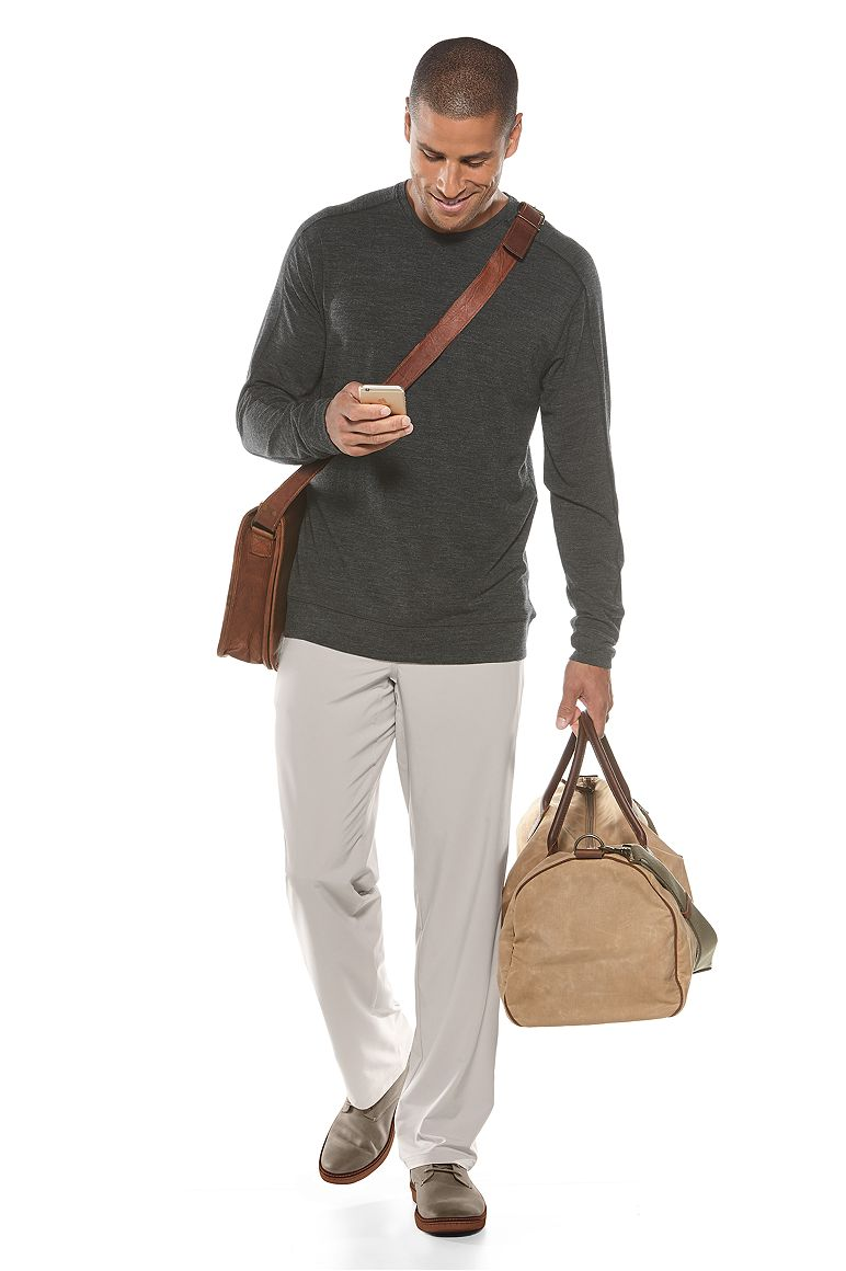 Coopers Merino V-Neck Sweater & Hiking Pants Outfit
