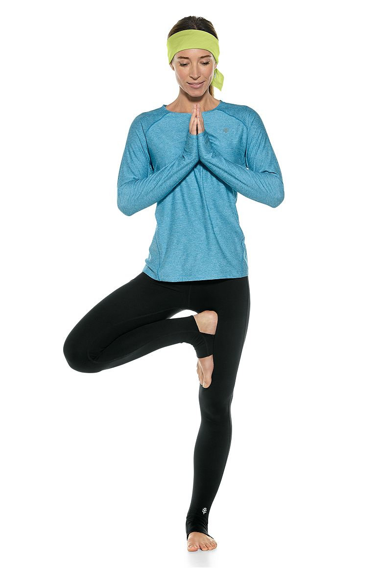Long Sleeve Fitness Tee & Yoga Stirrup Leggings Outfit