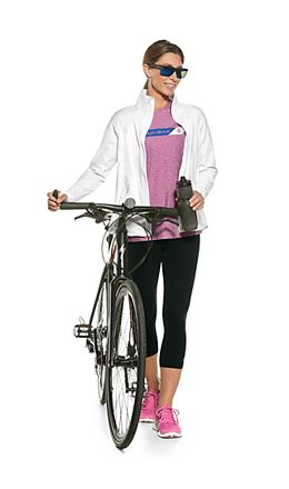 Interval Jacket & High-Rise Asana Yoga Capri Outfit