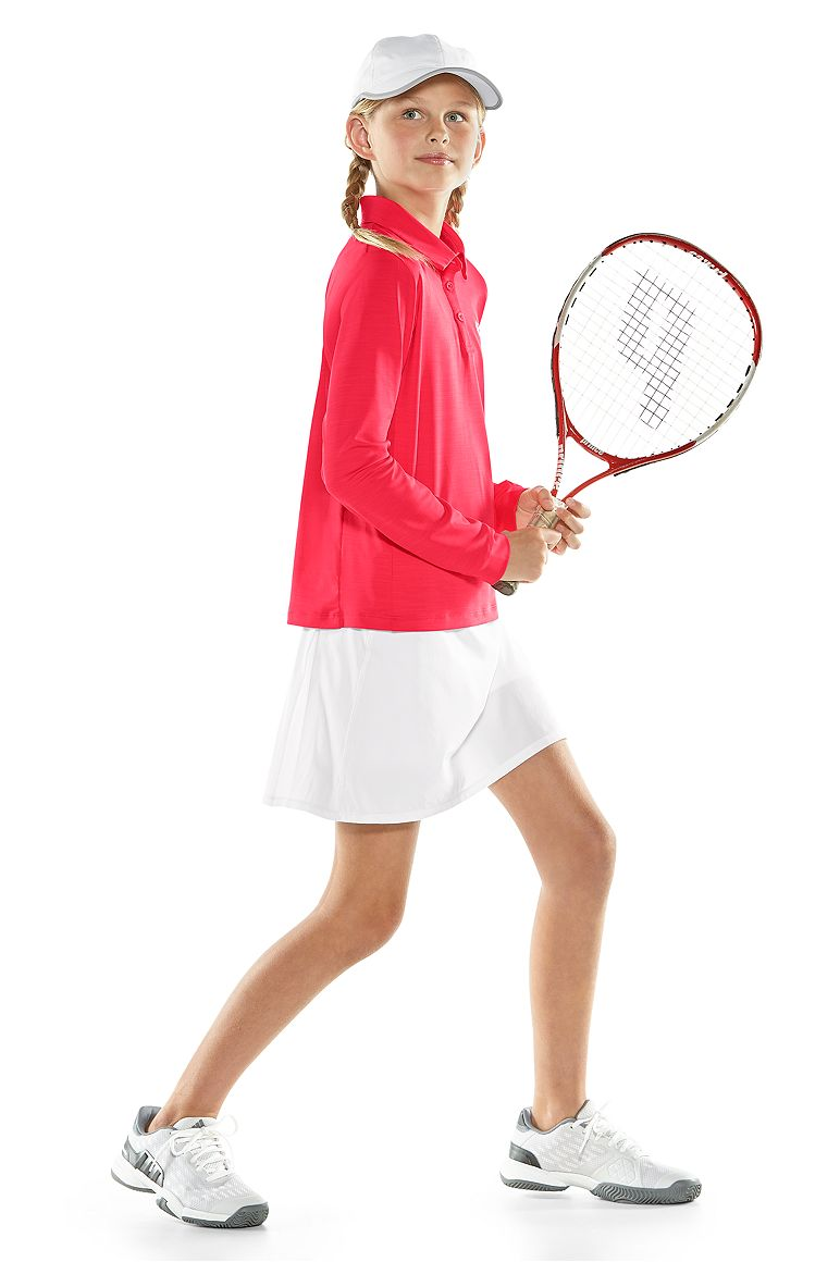 L/S Par Polo & Grand Slam Tennis Skort Outfit