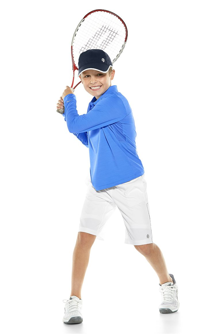 L/S Performance Polo & Outpace Sport Shorts 2.0 Outfit