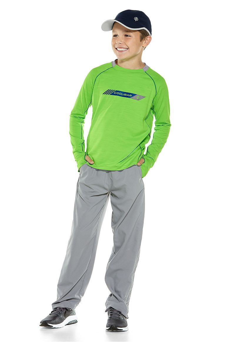 L/S Performance Graphic Tee & Sport Pants Outfit