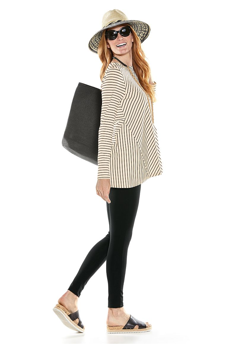 Horizon Striped Tunic Top & Summer Leggings Outfit