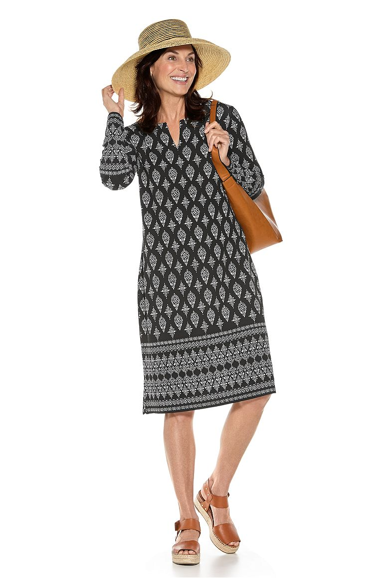 Gina Sun Hat & Oceanside Midi Dress Outfit