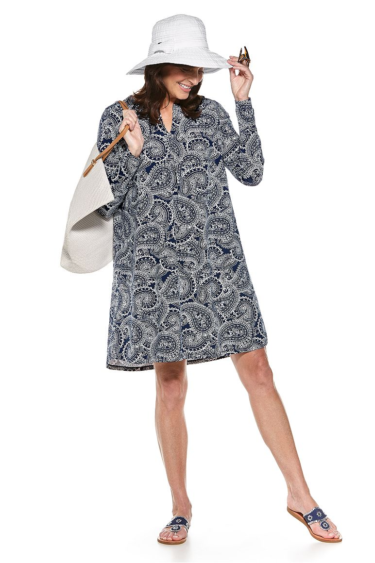 COMPACT IN A SNAP!™ Ingrid Ribbon Hat & Citywalk Tunic Dress Outfit