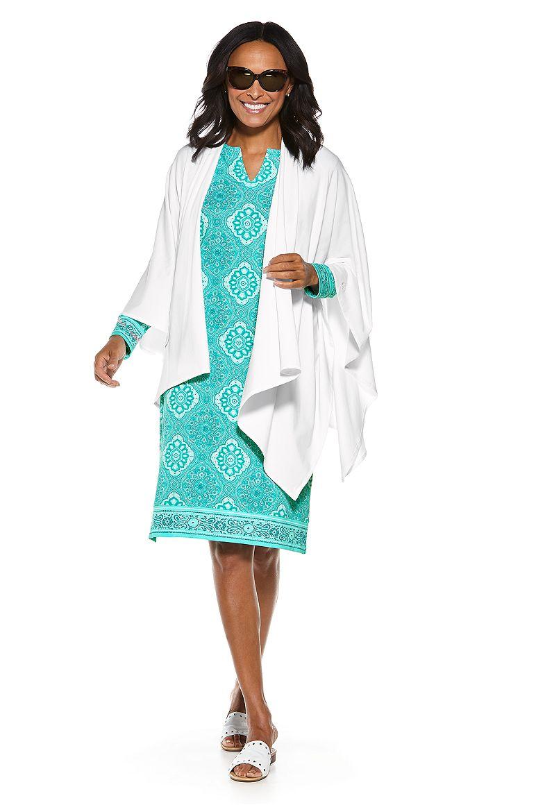 Oceanside Midi Dress & Everyday Beach Sun Wrap Outfit
