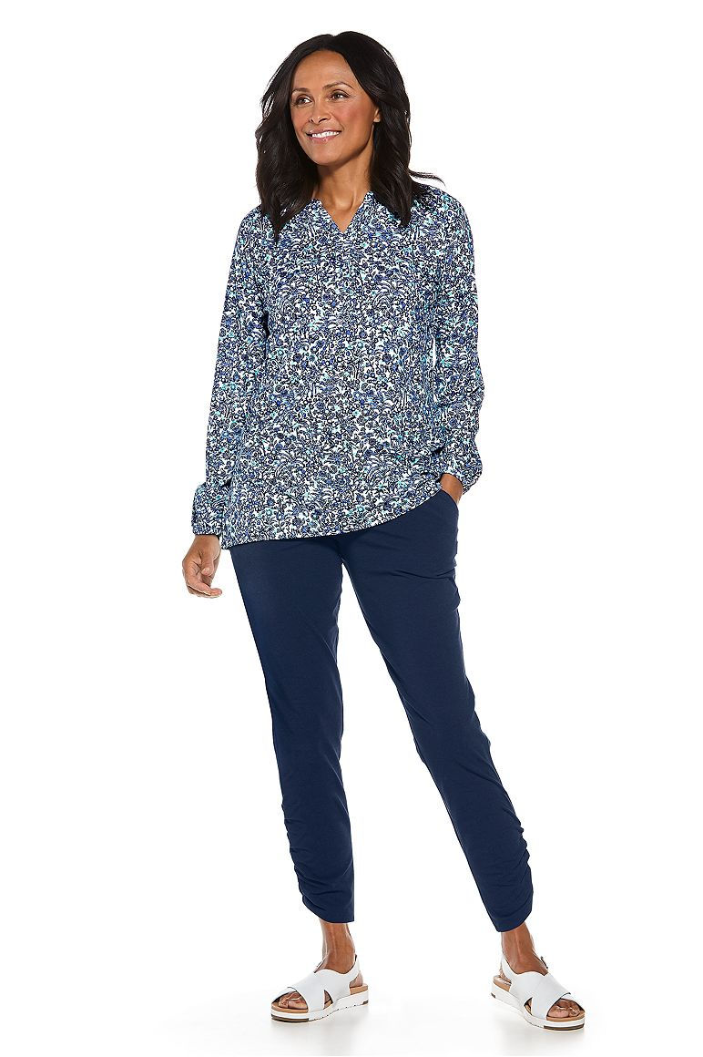 Carolina Tunic Top & Cafe Ruched Pant Outfit