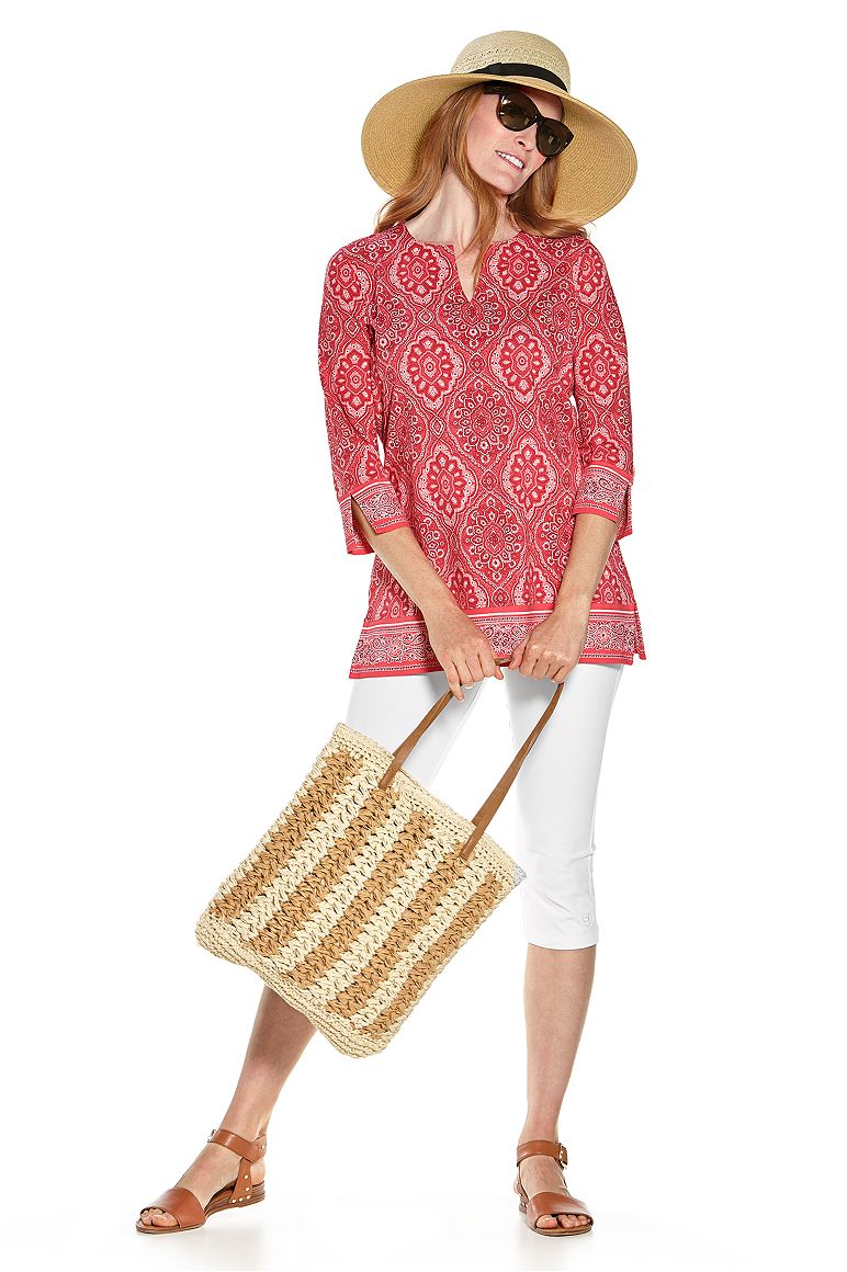 Shannon Wide Brim Hat & St. Lucia Tunic Top Outfit