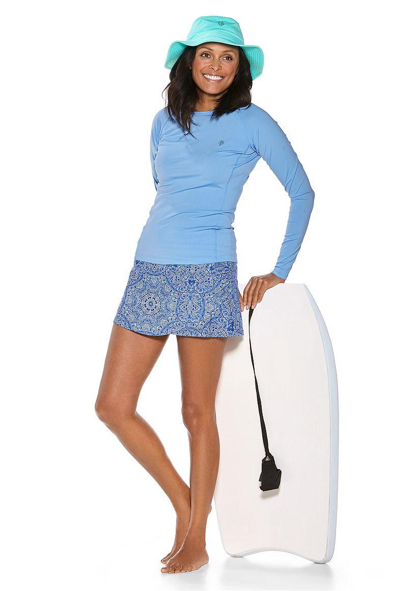L/S Hightide Swim Shirt & Big Wave Swim Skort Outfit