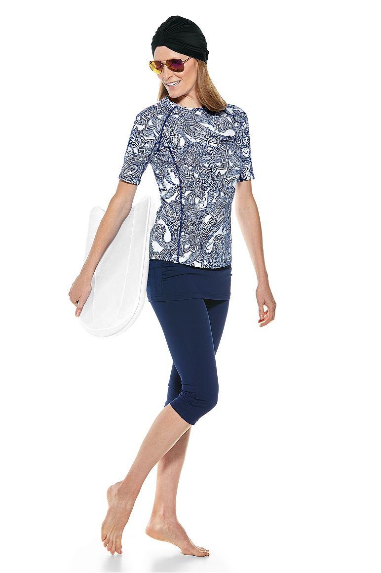 Vias Swim Turban & Hightide Swim Shirt Outfit