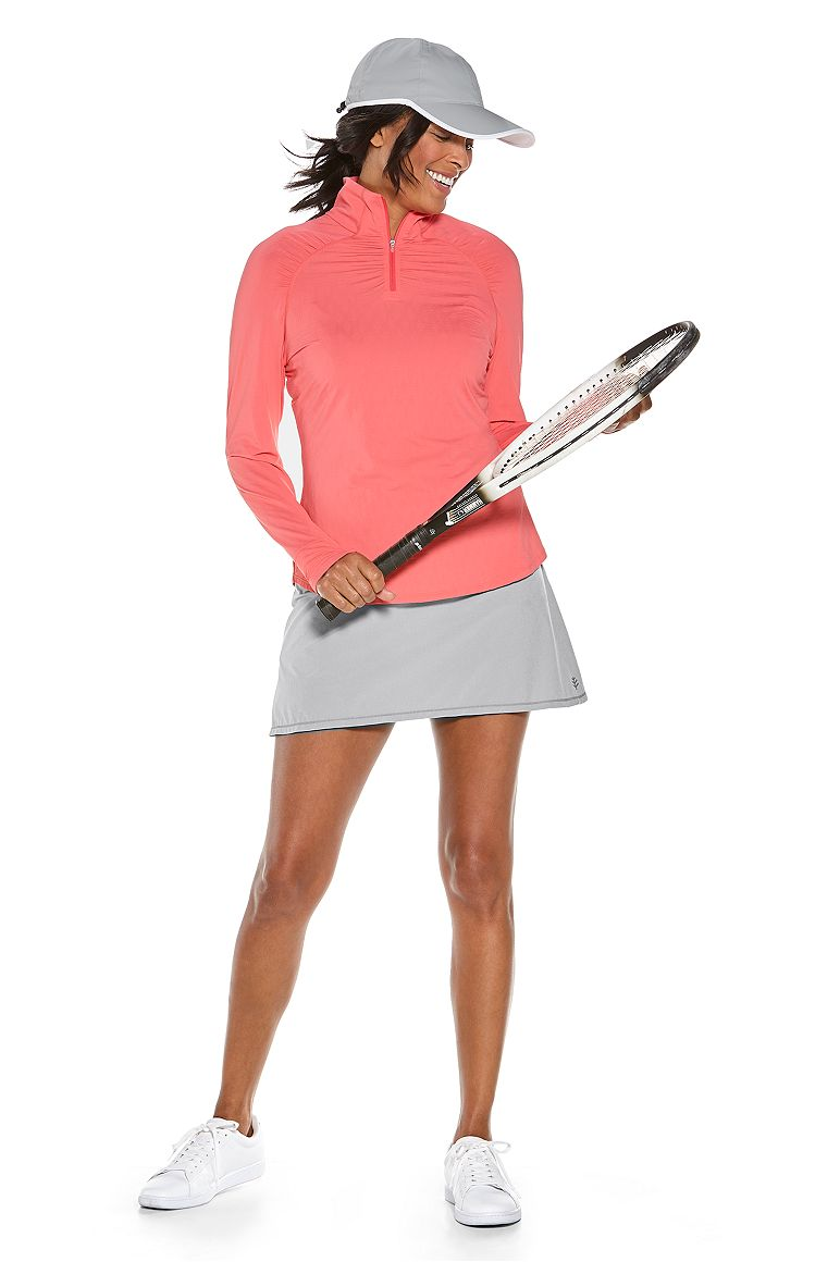 Arabella Quarter-Zip & Grand Slam Tennis Skort Outfit