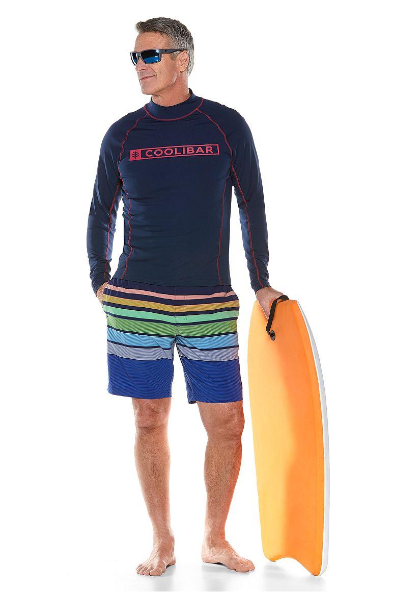 Logo Surf Rash Guard & Island Swim Trunks Outfit