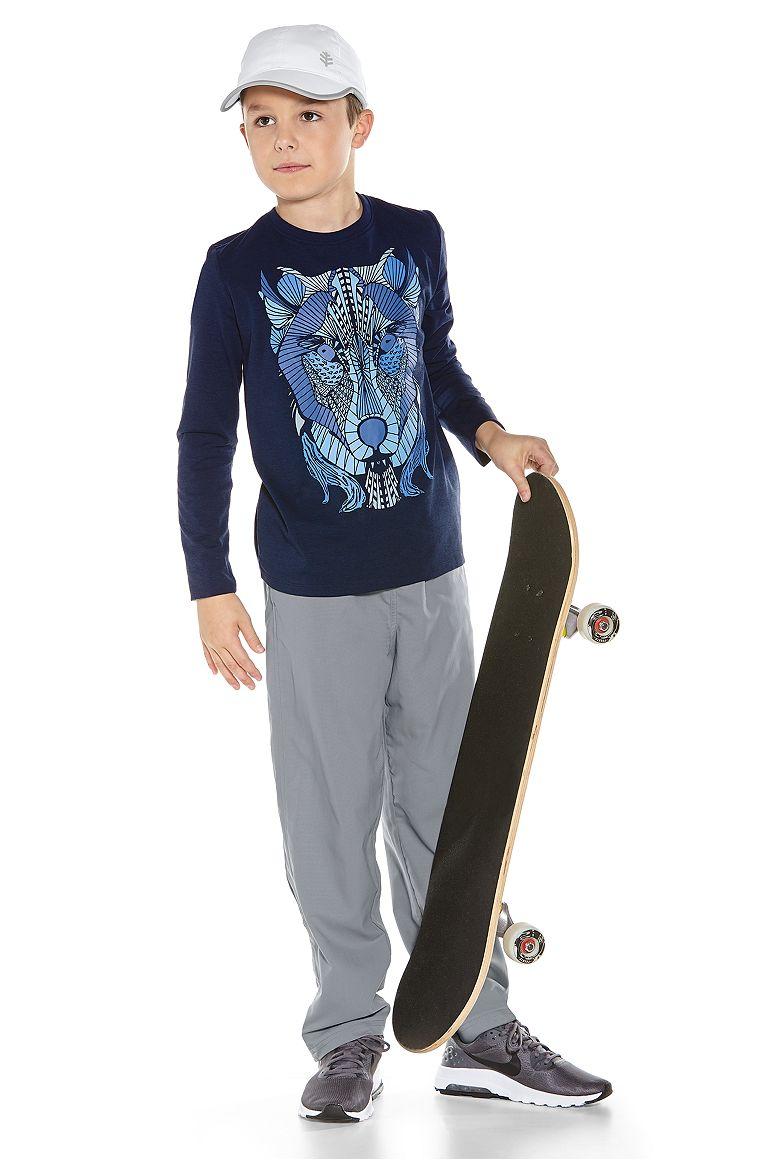 Boy's L/S Graphic T-Shirt & Sport Pants Outfit