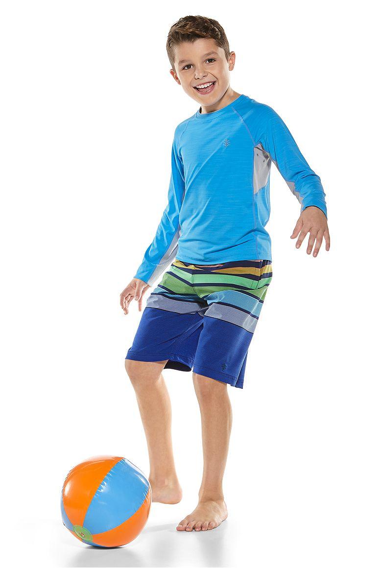 Boy's L/S Ultimate Rash Guard & Island Swim Trunks Outfit