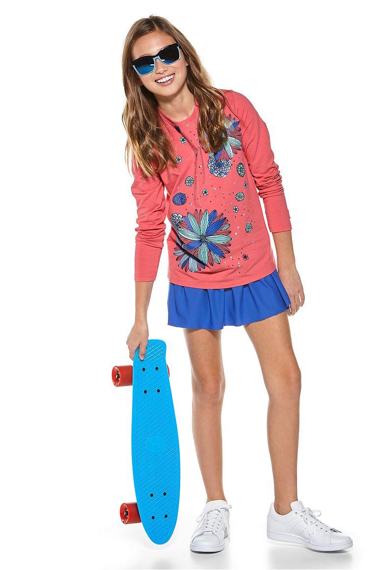 Girl's L/S Graphic T-Shirt & Wavecatcher Swim Skirt Outfit