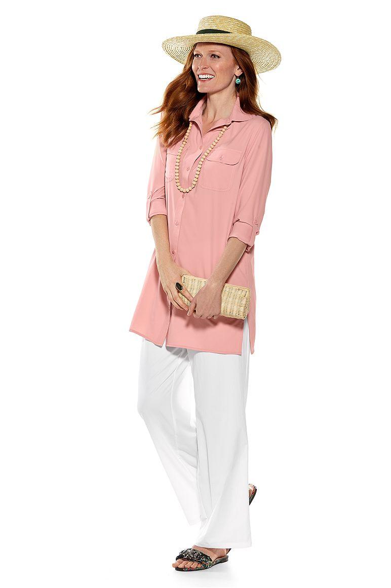 Isabella Sun Hat & Santorini Tunic Shirt Outfit