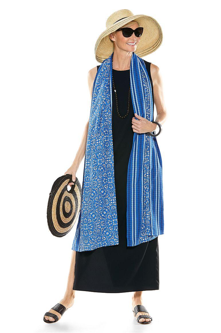 d'Orsay Sheath Dress & Pesaro Border Sun Shawl Outfit