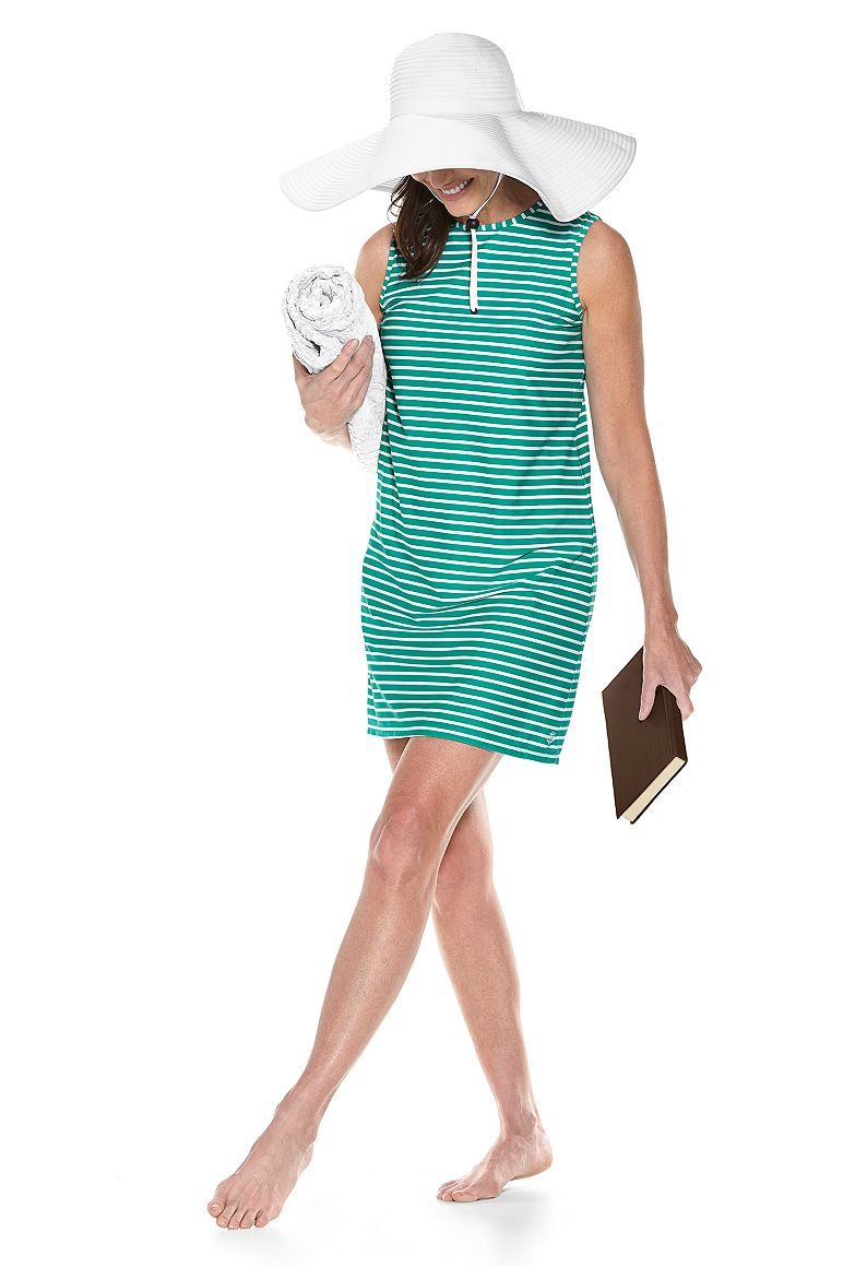 Shapeable Poolside Hat & Galene Swim Cover-Up Dress Outfit