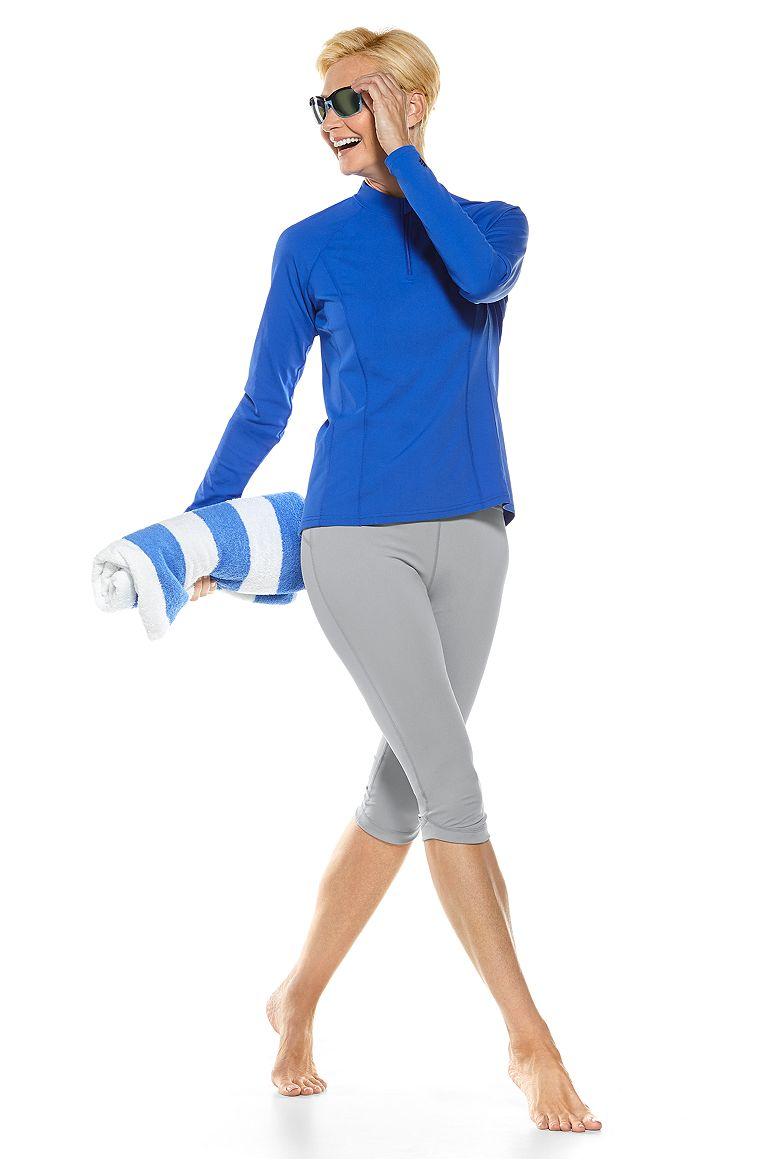 L/S Freestyle Rash Guard & Tulip Swim Capris Outfit