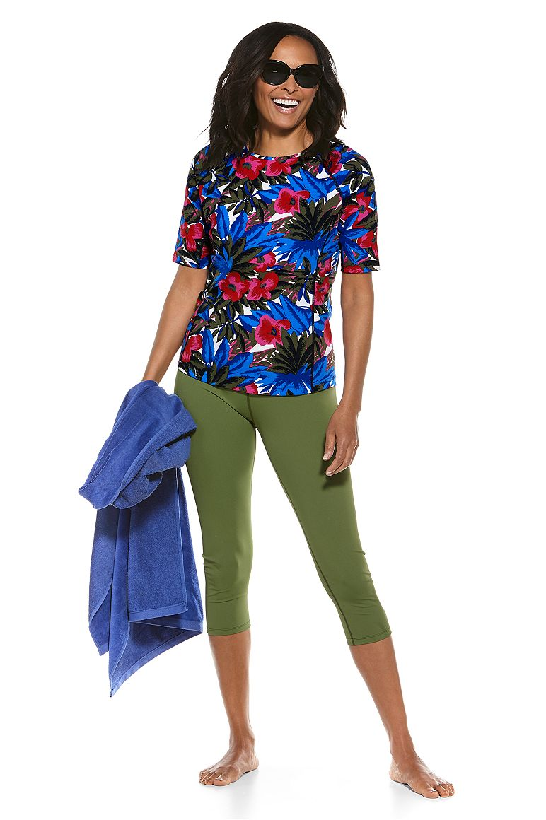 S/S Hightide Swim Shirt & Deep Water Swim Capris Outfit