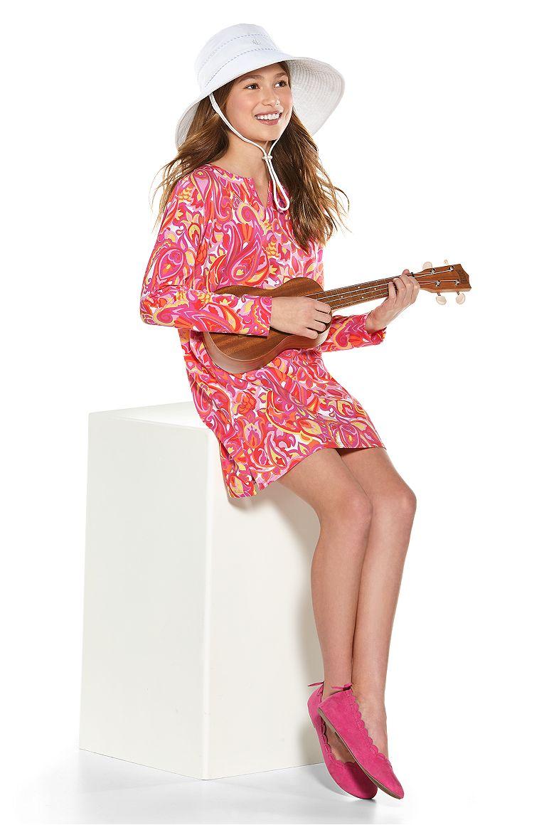 Sand Castle Sun Hat & Summer Tunic Dress Outfit
